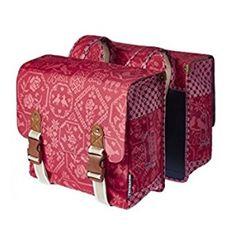 8b4407372b Basil Boheme Double Bag Red Bike Bag