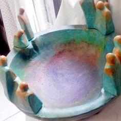 Decoupage, Ceramic Plates, Ceramics, Fruit, Cool Stuff, Diy, Paintings, Statues, Mosaics