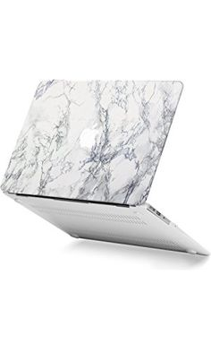 GMYLE White Marble Macbook Air 13 inch case Soft-Touch Matte Plastic Scratch Guard Cover for Macbook Air 13 inch (Model: A1369 & A1466)