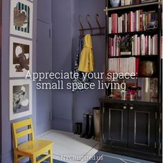 Appreciate your space: small space living inspiration