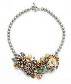 Miriam Haskell Garden Cluster Necklace