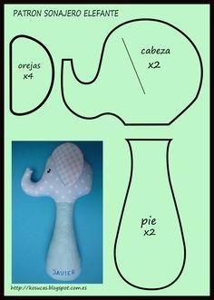 Kosucas : Tutorial para hacer un sonajero elefante.