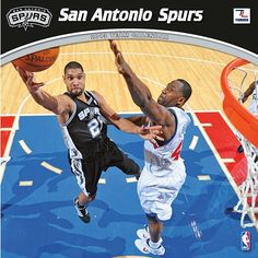 San Antonio Spurs Wall Calendar: If basketball is your passion and your favorite team is the San Antonio Spurs, this is the perfect 2013 NBA wall calendar for you! Vivid action-packed images are fully featured along with player bios, team trivia and noteworthy historical NBA dates listed each month.  http://www.calendars.com/Basketball/San-Antonio-Spurs-2013-Wall-Calendar/prod201300001083/?categoryId=cat00446=cat00446