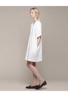 Organic by John Patrick / Split Neck Dress
