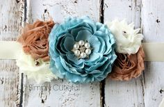 Blue Maternity Sash Maternity Photo Prop by simplycutieful, $22.50