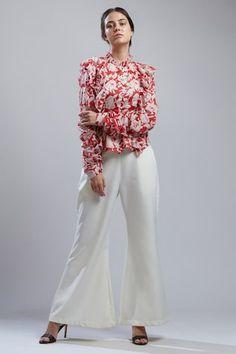 Flared Palazzo, White Palazzo Pants, Banana Crepes, India Usa, Flare Pants, Off White, Indian, Collection, Fashion Design