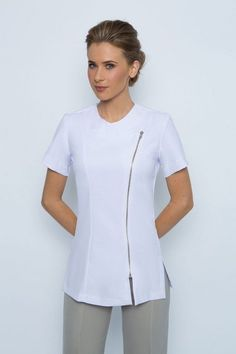 We create & supply elegant, comfortable spa uniforms and medical scrubs for businesses in Australia. Find the perfect uniform design to add class & style to your spa's presetation. Spa Uniform, Scrubs Uniform, Medical Uniforms, Work Uniforms, Salon Wear, Scrubs Pattern, Uniform Design, Medical Scrubs, Skinny Legs