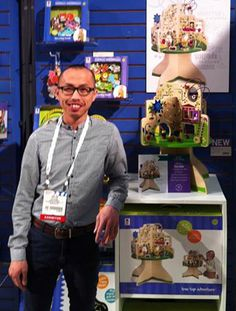 Tou Yia Xiong displays Tree Top Adventure at the toy fair in New York.