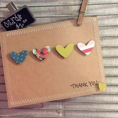 Homemade Thank you Card by McCartyOriginals on Etsy