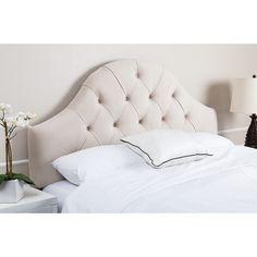 ABBYSON LIVING York Tufted Arch Ivory Velvet Headboard - Overstock Shopping - Big Discounts on Abbyson Living Headboards