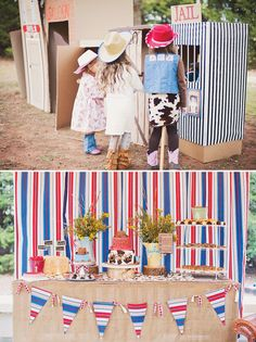 Wild West Cowboy Party- DIY Wild West Cardboard Box Town (with a jail, general store & outhouse!)