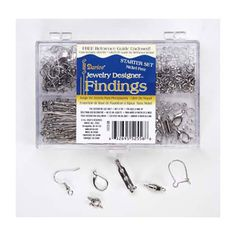 Darice® Finding Starter Kit in Caddy - Nickel Free Silver