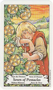 Today's Tarot: Daily card draws, interpretations, and guidance: Today's Tarot: Seven of Pentacles (rest after harvest, assessment, crossroads)