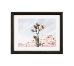"Joshua Tree #5 Framed Print by Jane Wilder, 20 x 16"", Ridged Distressed Frame, Black, Mat"