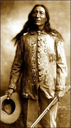 (Sinté Mazá,Oglala Lakota),Chief Iron Tail ,Who was one of the most famous Native Americans of his day and a popular subject for professional photographers ,Chief Iron Tails distinctive profile became well known across the United States as one of three models for the five-cent coin Buffalo nickel or Indian Head nickel.Photograph 1900.
