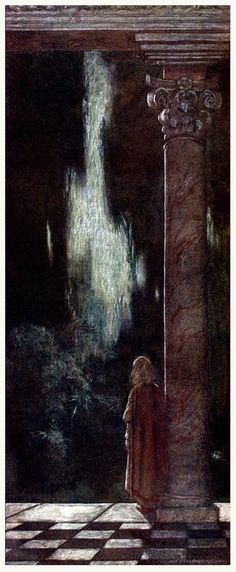 William Heath Robinson -  She pined in thought. - Twelfth Night - 1908.
