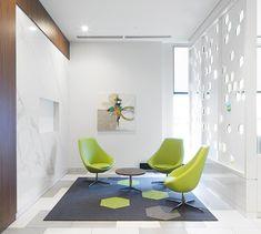LEMAYMICHAUD   Design   Architecture   Interior Design   Commercial design   Quebec   Canada   Desjardins   Bank   Banque   Caisse   Desk   Design Commercial, Saint Laurent, Egg Chair, Lounge, Canada, Architecture, Furniture, Home Decor, Crate