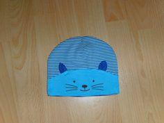 Babymütze Baumwolle  blau /türkis