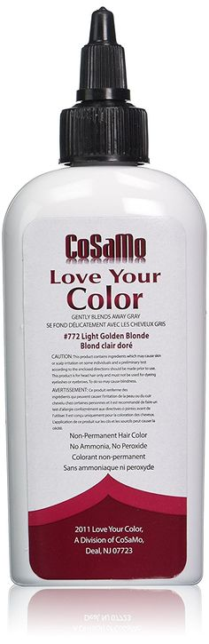 Love Your Color Cosamo Non Permanent Hair Color, Light Gold Blonde ** This is an Amazon Affiliate link. More info could be found at the image url.