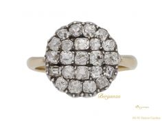 front-view-antique-Diamond-engagement-ring-berganza-hatton-garden