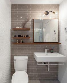 Gray tile, white grout