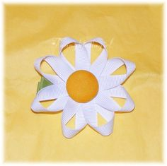 Daisy from ribbon - add a pompom center