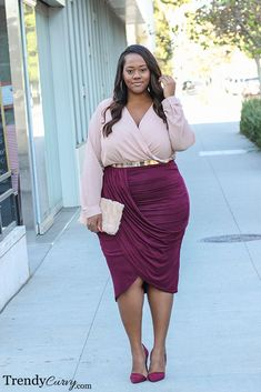 Plus size fasion style. So elegant outfit for curvy women Plus Size Fashion Blog, Plus Size Fashion For Women, Plus Size Women, Plus Fashion, Fashion 2018, Womens Fashion, Curvy Girl Fashion, Look Fashion, Fashion Outfits