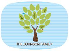 Personalized Family Tree Melamine Platter by PETUNIAS  by PETUNIAS, $37.50