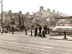 Liverpool - Bomb damaged house at Smithdown and Portman Road