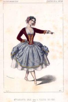 Carlotta Grisi dans la filleule des fées