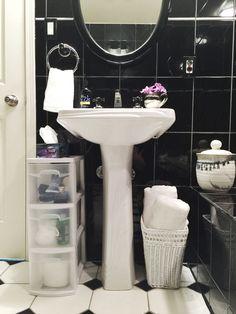 3 brilliant ways to add storage to your pedestal sink