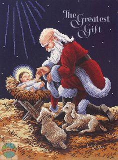 Santa And Baby Jesus Pictures : santa, jesus, pictures, Kneeling, Santa, Jesus, Ideas, Santa,
