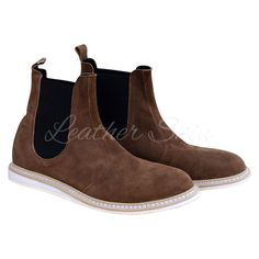 Men Brown Chelsea Leather Boots
