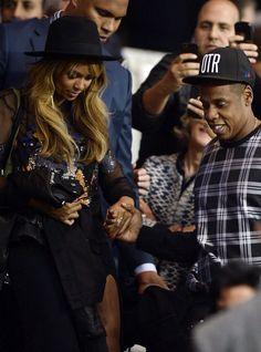 Beyoncé, Jay Z & David Beckham at the PSG Vs. Barcelona game September 30th, 2014