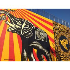 The West Hollywood Library - Mural... Elephants get around...