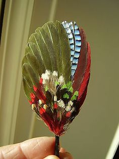 Antique Vintage Victorian Edwardian Unused Millinery Hat Trim Green Feathers | eBay