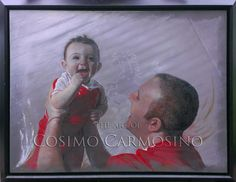 Fine Arts_Painting_Acrylics_Portrait Art_Father and Son