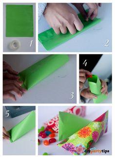 Unique Lolly Bag - je kan de eindjes stikken ipv dichtmaken met plakband