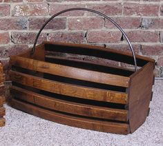 Wine Basket Made from Wine Barrel Staves