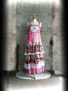Hey, I found this really awesome Etsy listing at https://www.etsy.com/listing/292401579/pink-sunshine-shabby-floral-lace-layered
