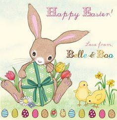31 maart - Happy Easter (illustrated by Mandy Sutcliffe) // Each day one pin that reflects our day