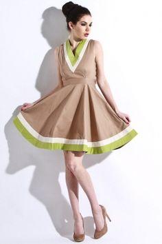 dear creatures - women's garden dress (khaki)    http://www.80spurple.com/shop/product/140914/5256/dear-creatures-women-s-garden-dress-khaki