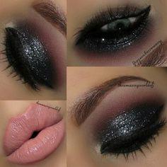 Flawless Smokey Eyes and Nude Lips #makeup