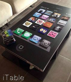 iTable: Tech & Gadgets Decalz | Lockerz - I wonder how long this would last in my house with children :)
