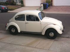 Third car: 69 VW Bug: It was Lila's, Skeet gave it to me had to get it running and swap the trans a few times. I painted it primer grey.