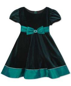 Rare Editions Velvet & Taffeta Dress, Toddler Girls & Little Girls (2T-6X)     macys.com