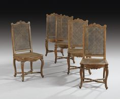 A SET OF FIVE SIDE CHAIRS, FRENCH RÉGENCE, CIRCA 1720