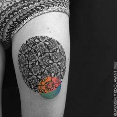 Blackwork Tattoos Elevated by Colorful Crossovers and Ornate Geometry - My Modern Met