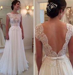 White Patchwork Hollow-out Long Cap Sleeve Elegant Fashion Lace Maxi Dress - Maxi Dresses - Dresses