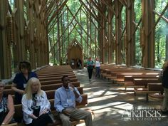 At the Anthony Chapel at Garvan Woodland Gardens in Hot Springs